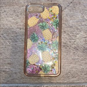 Accessories - PINEAPPLE AND GLITTER CASE!